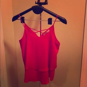 Red/orange tank top from franchesca's size medium